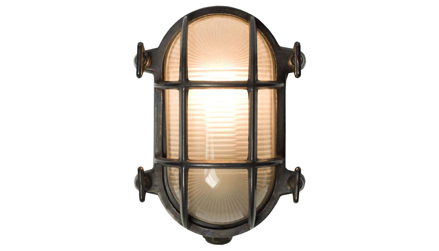 Bulkhead Wall Light - Oval - Prismatic Glass