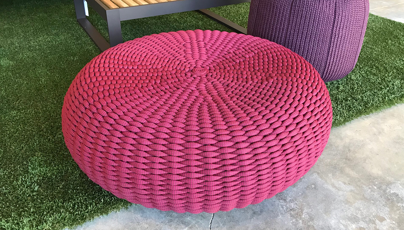 Shell Ottoman - In Our Showroom