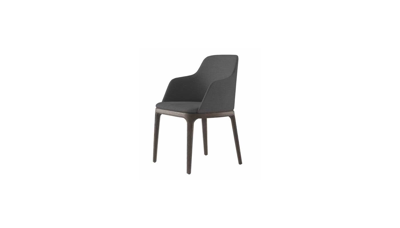 Grace Dining Chair with Arms - Quickship