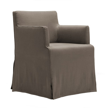 Velvet Due Dining Chair with Arms