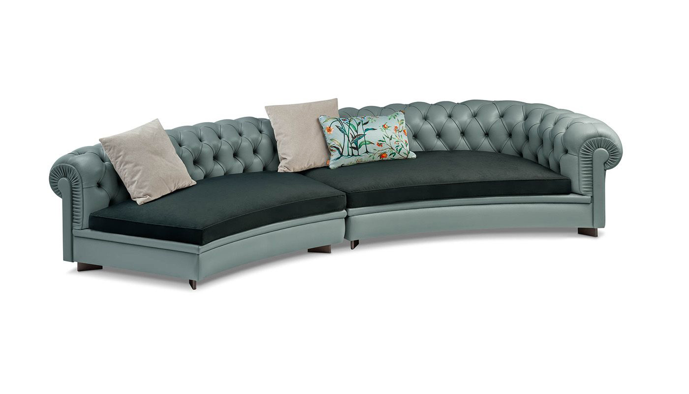 Chester Line Sectional Sofa - Curved