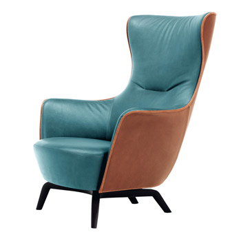 Mamy Blue Lounge Chair - Quickship