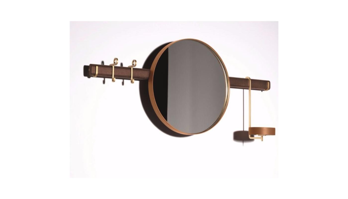 Ren Wall Mirror with Hangers