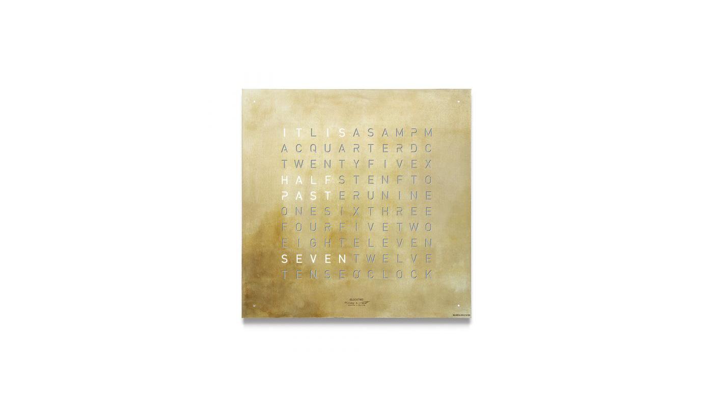 Classic Wall Clock Creator's Edition - Silver & Gold