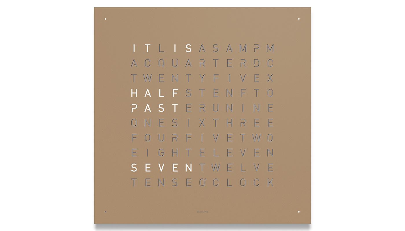 Large Wall Clock - Hazelnut Powder Coated