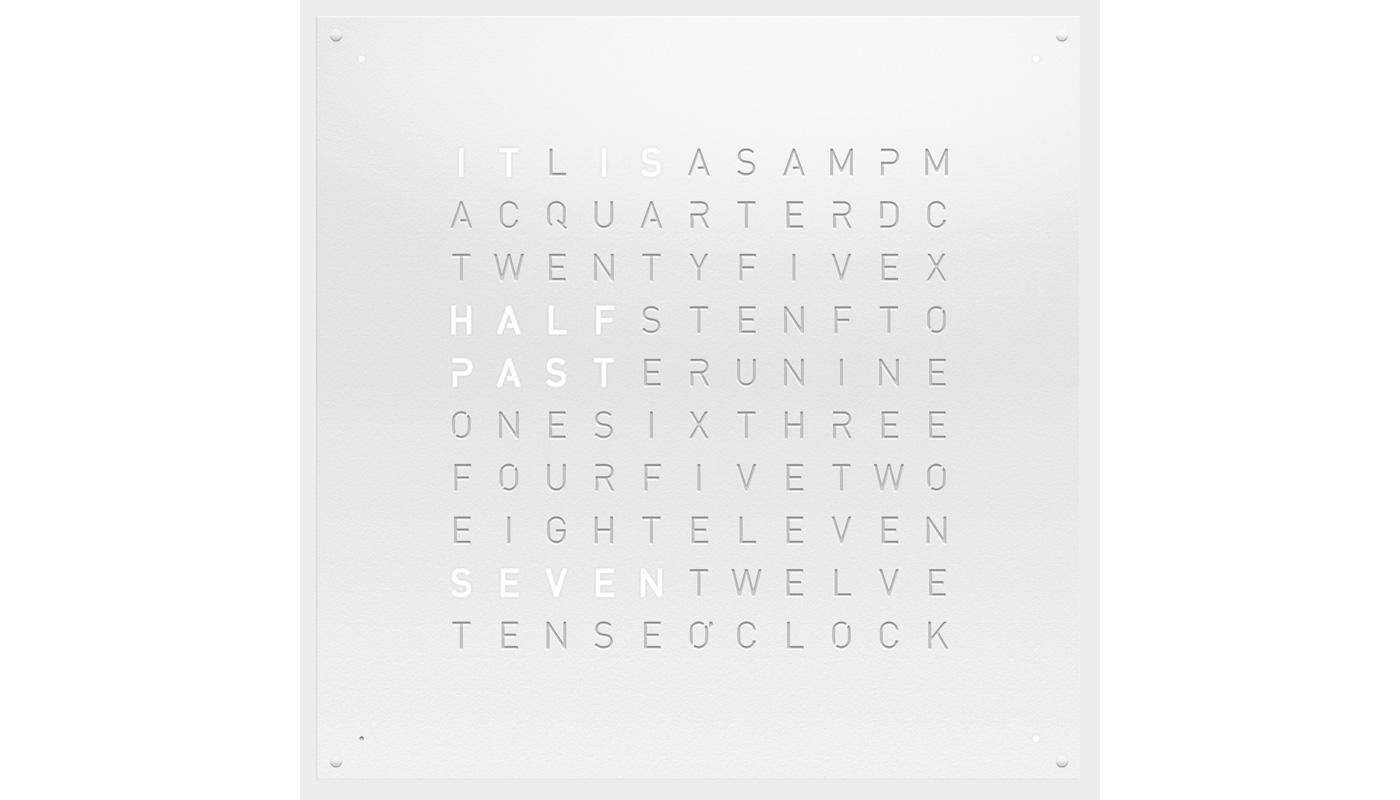 Large Wall Clock - White Powder Coated