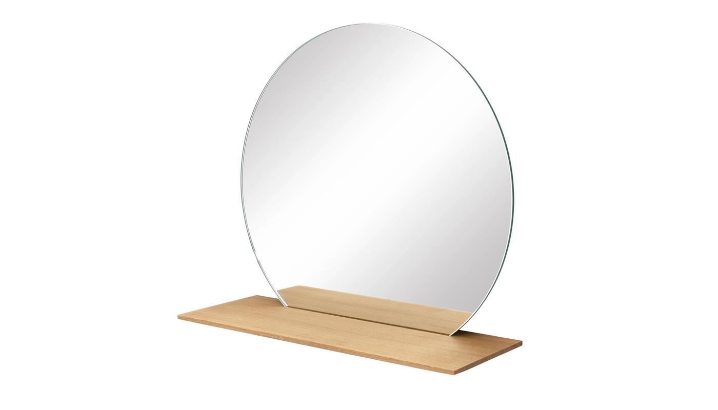Cut Mirror with Shelf