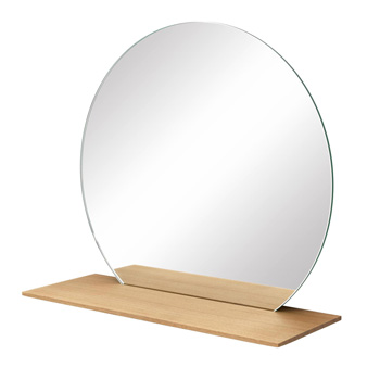 Cut Mirror with Shelf