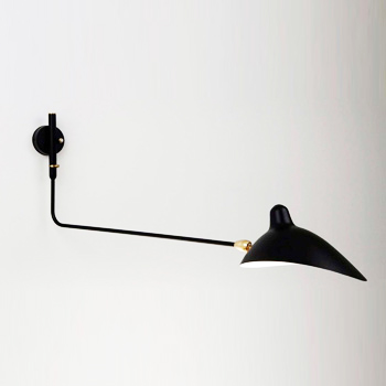 1 Straight Arm Rotating Sconce