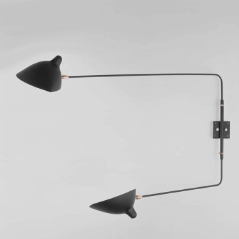 2 Straight Arm Rotating Sconce