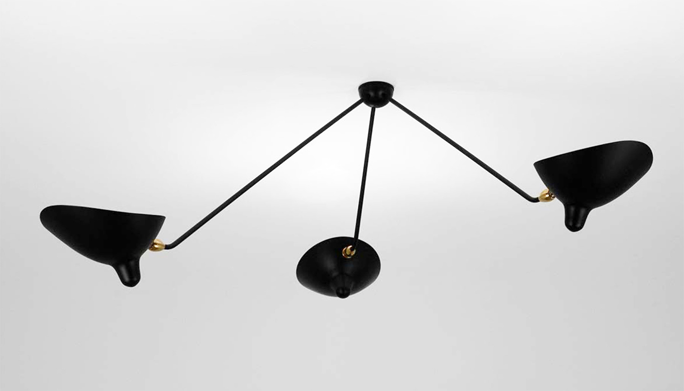 3 Arm Spider Ceiling Light By Serge Mouille Switch Modern