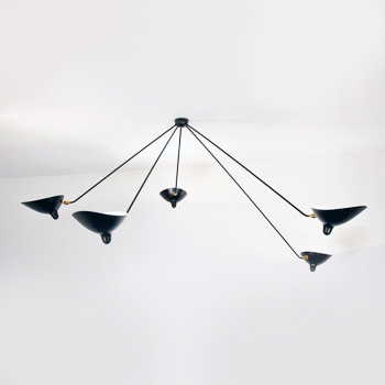 5 Arm Spider Ceiling Light