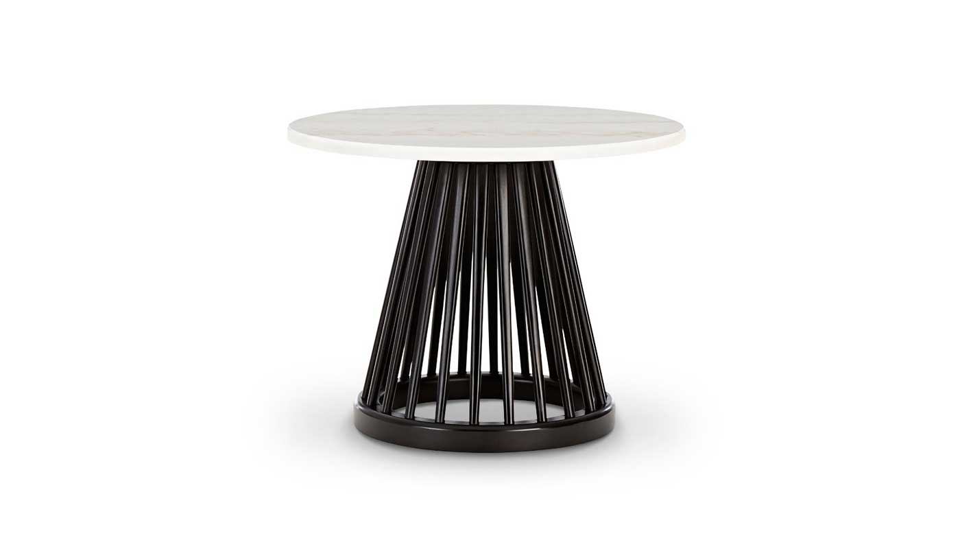 Fan Small Table - Black Base