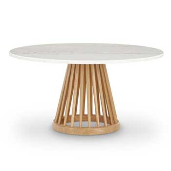 Fan Coffee Table - Natural Base