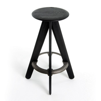 Slab Bar Stool - Black