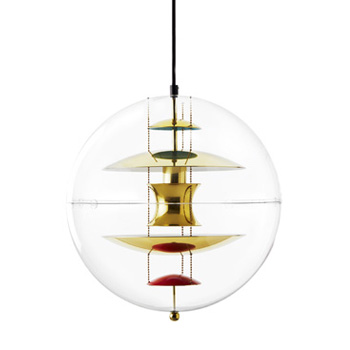 VP Globe Suspension Light - Brass