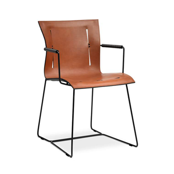 Cuoio Dining Chair with Arms