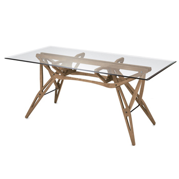 Reale Dining Table - Glass Top - Quickship