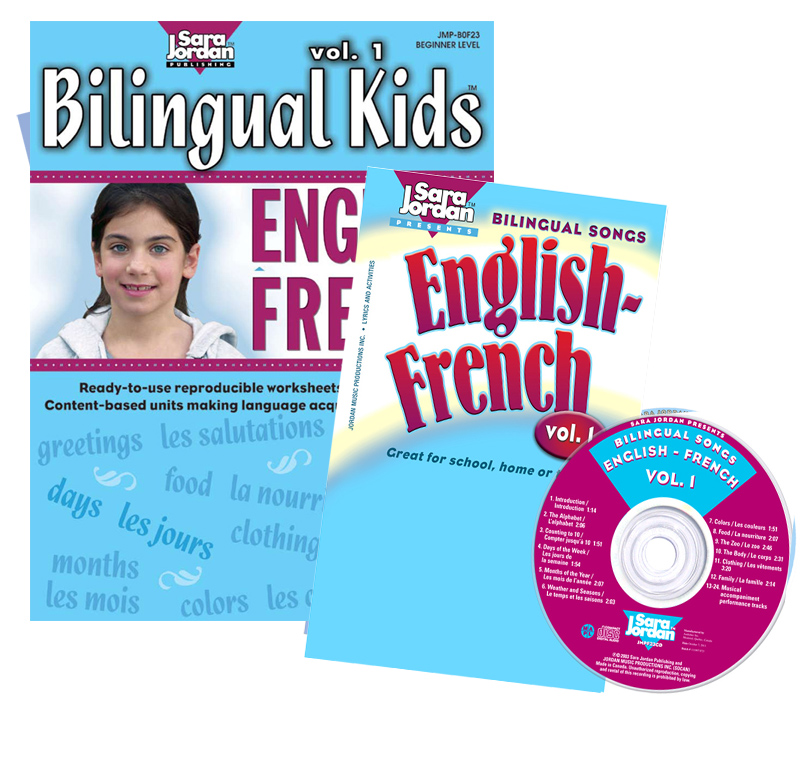 Bilingual Songs: English-French Vol. 1 CD/Book or Download