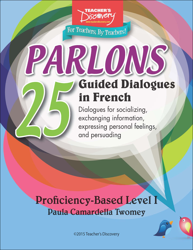 Parlons: 25 Guided Dialogues in French Dialogues Book