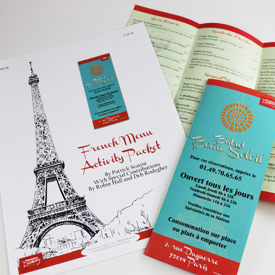 French Menus and Activity Packet
