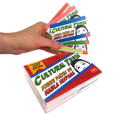 Cultural Trivia Game sobre países de habla hispana Game Cards