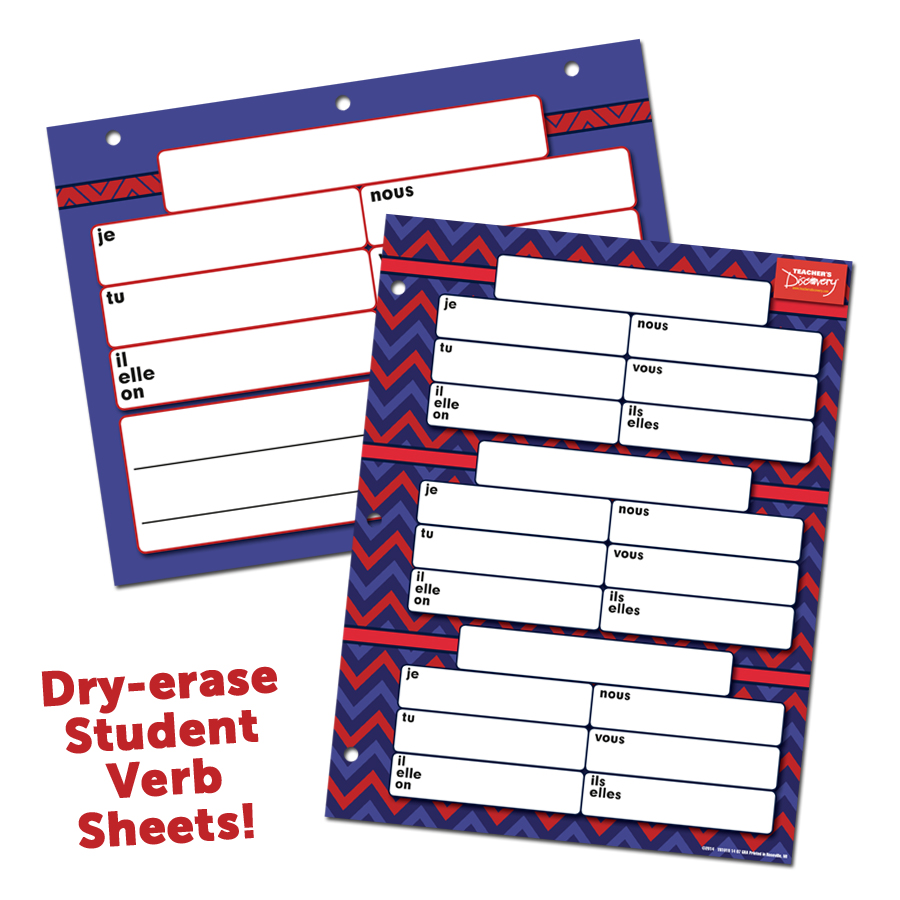 Dry-Erase Verb Sheets French