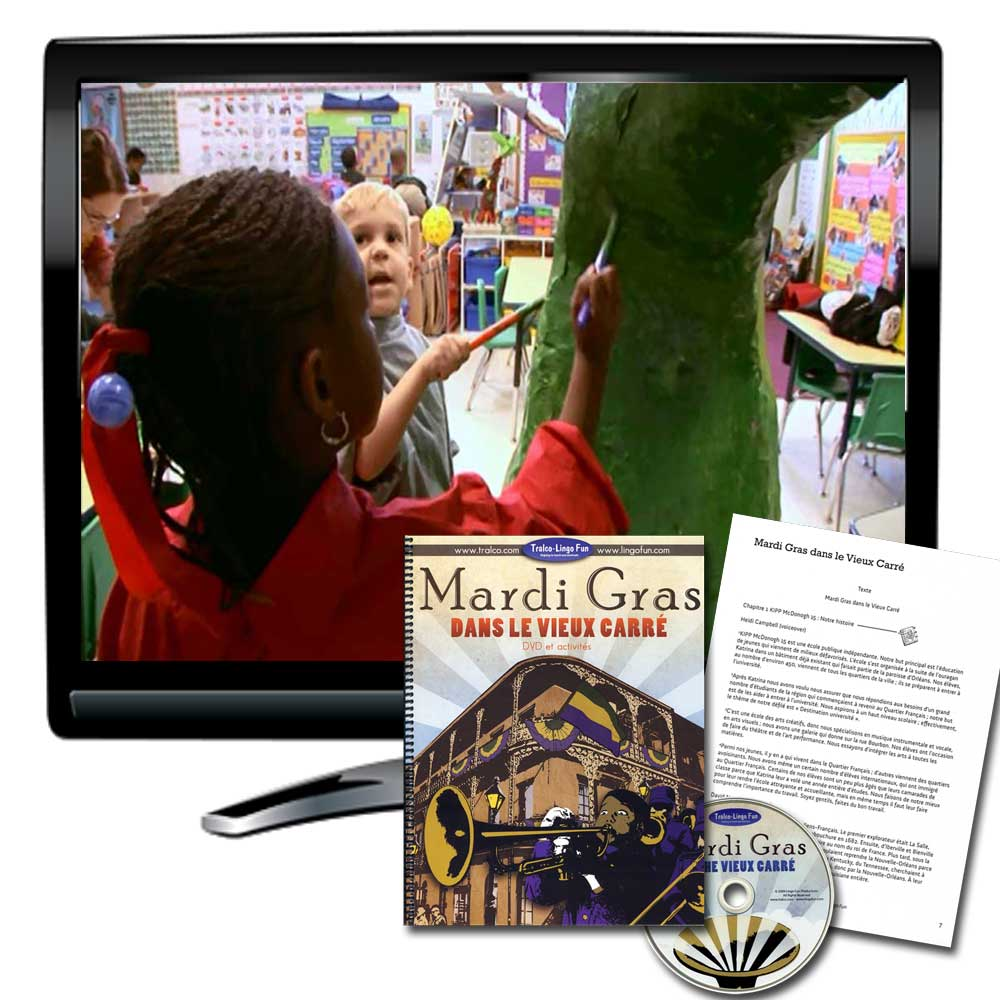 Mardi Gras Dans Le Vieux Carré French DVD and Activity Book Available in French