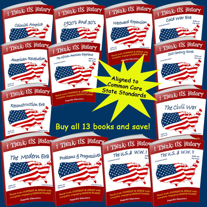 i Think: U.S. History Activity Book Set of 13