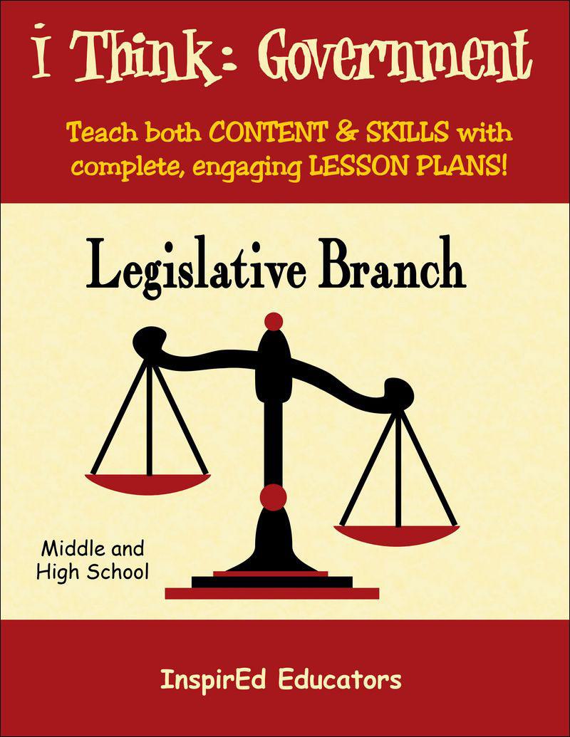i Think: Government, The Legislative Branch Activity Book