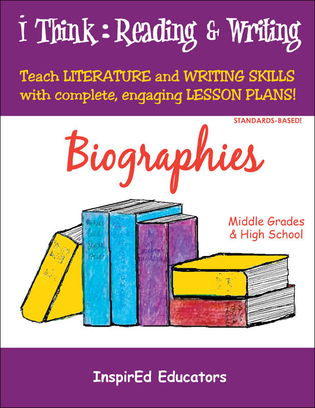 i Think: Reading & Writing, Biographies Activity Book