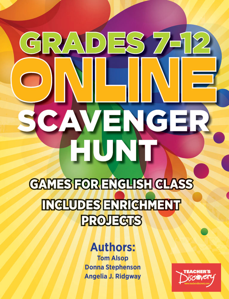 Online Scavenger Hunt Games for English Class Book