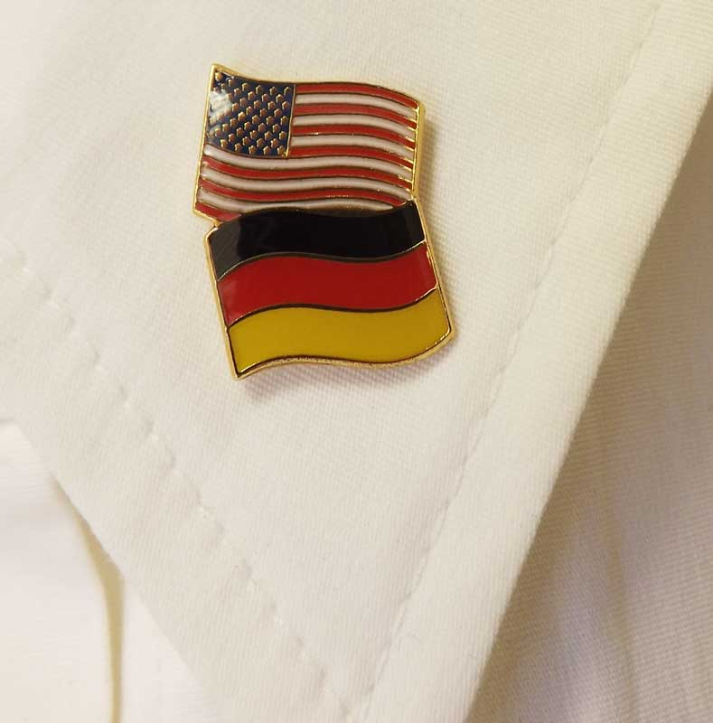 Germany/USA Flag Pin