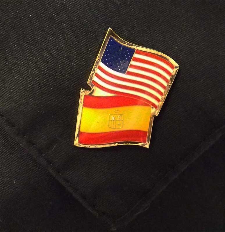 Spain/USA Flag Pin