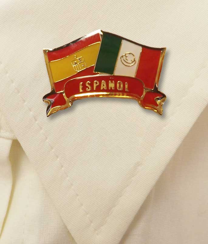 Español Flags Pin