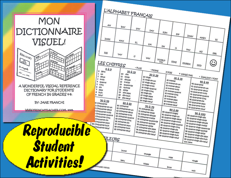 Mon dictionaire visuel ! French Activity Packet