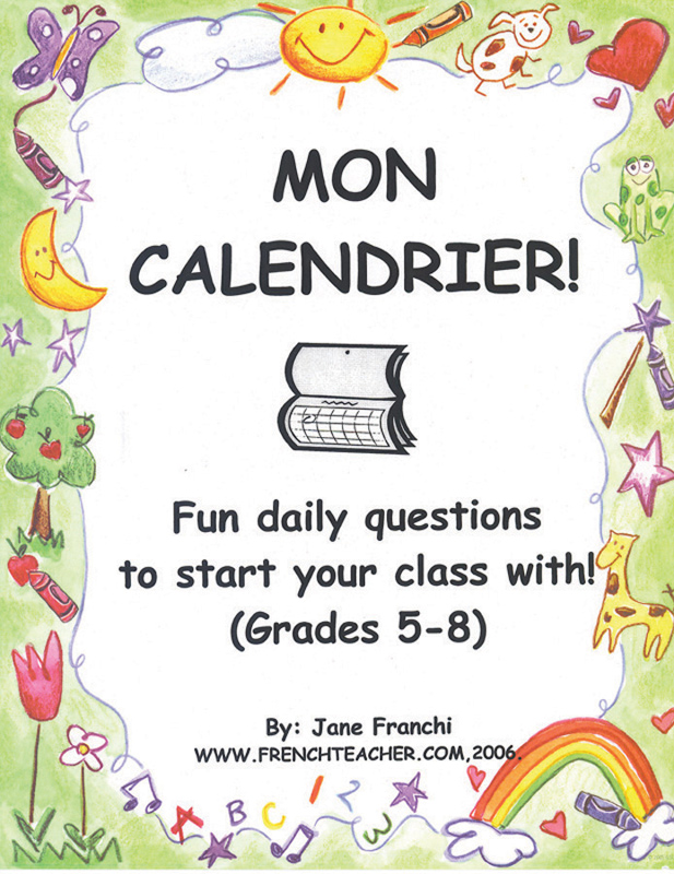 Mon calendrier ! French Activity Packet
