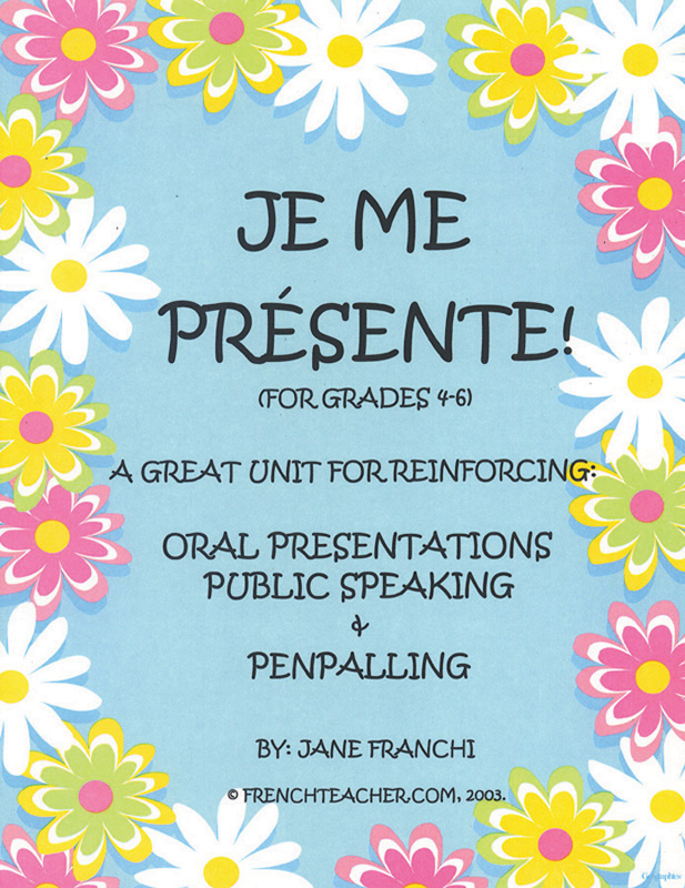 Je me présente ! French Activity Packet