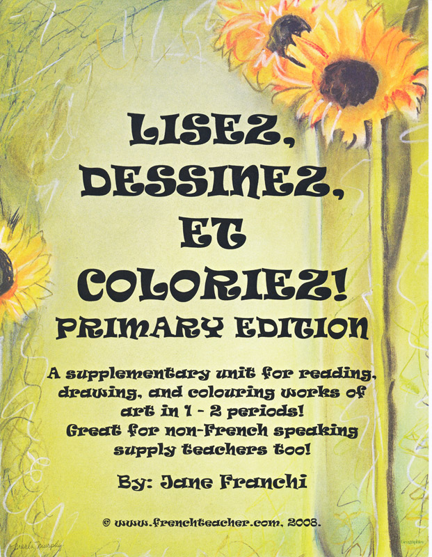Lisez dessinez et coloriez Primary Edition French Activity Packet
