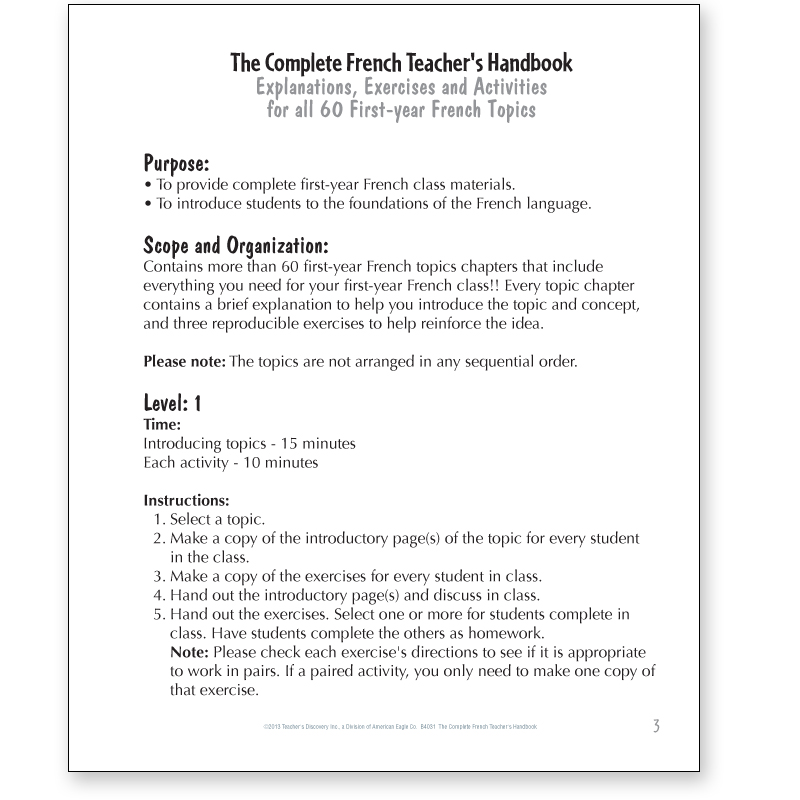 Preposition In Learn In Marathi All Complate: The Complete French Teacher's Handbook, French: Teacher's