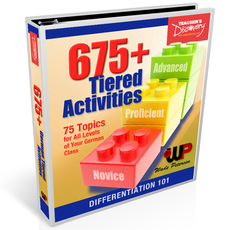 675+ Tiered Activities for German Book