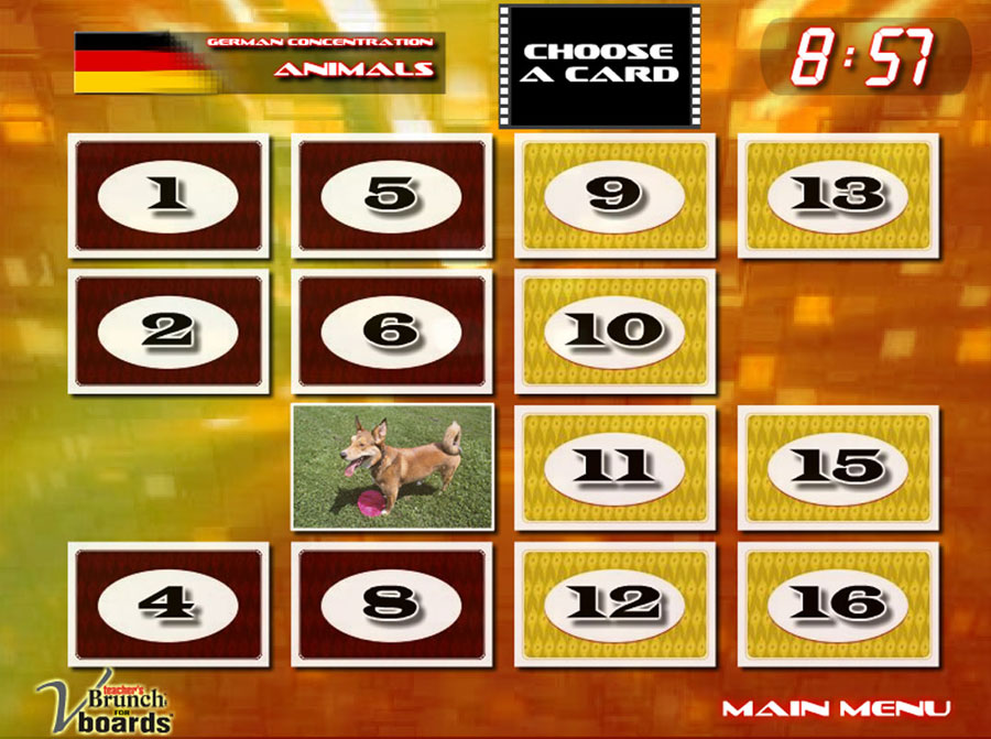 German Concentration Game Animals