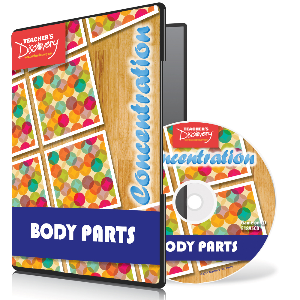 Body Parts Spanish Concentration Game 2014