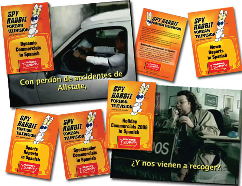 Commercials and Clips in Spanish Set of 9 DVDs