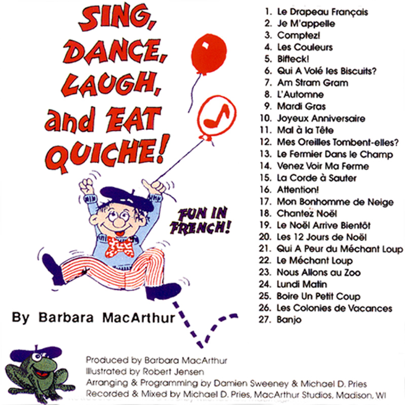 Sing, Dance, Laugh and Eat Quiche 1 Audio CD