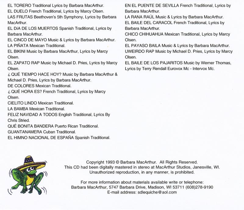 Lyric guantanamera lyrics : Sing, Dance, Laugh and Eat Tacos 3 Lyric Book and Music CD Set ...