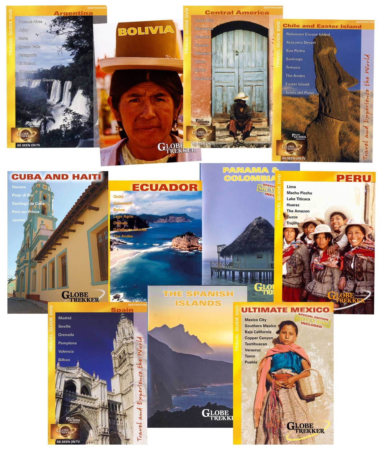 Globe Trekker Spanish Set of 11 DVDs