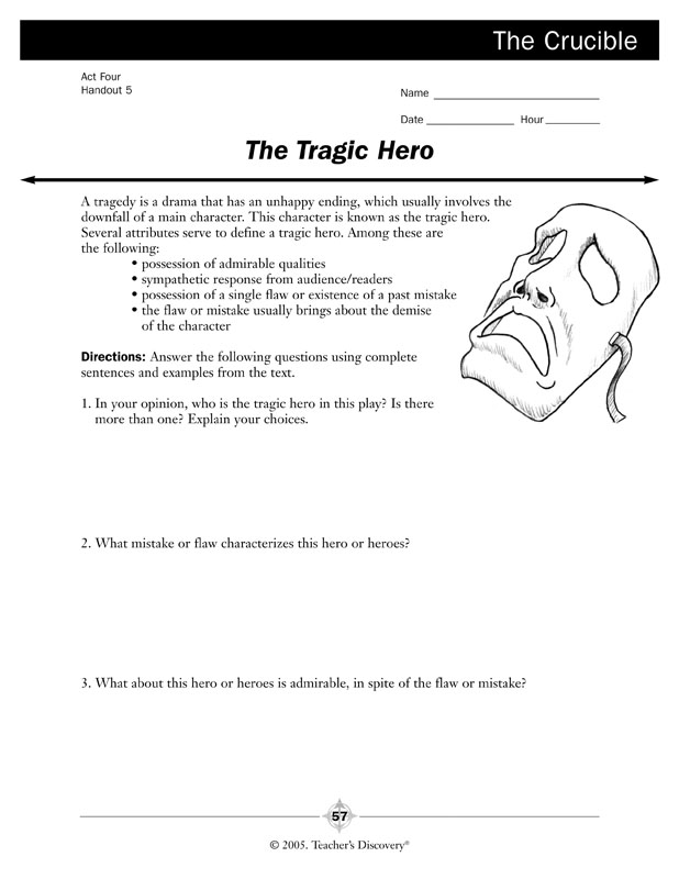 The Crucible Novel Guide Book English Teachers Discovery – The Crucible Worksheet Answers