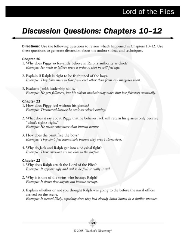 lord of the flies chapter 1 4 study guide Lord of the flies: chapter 2 study guide: respond in complete sentences 1 what do the boys need an army for 2 ralph and jack have both been established as leaders (jack being a self-declared.