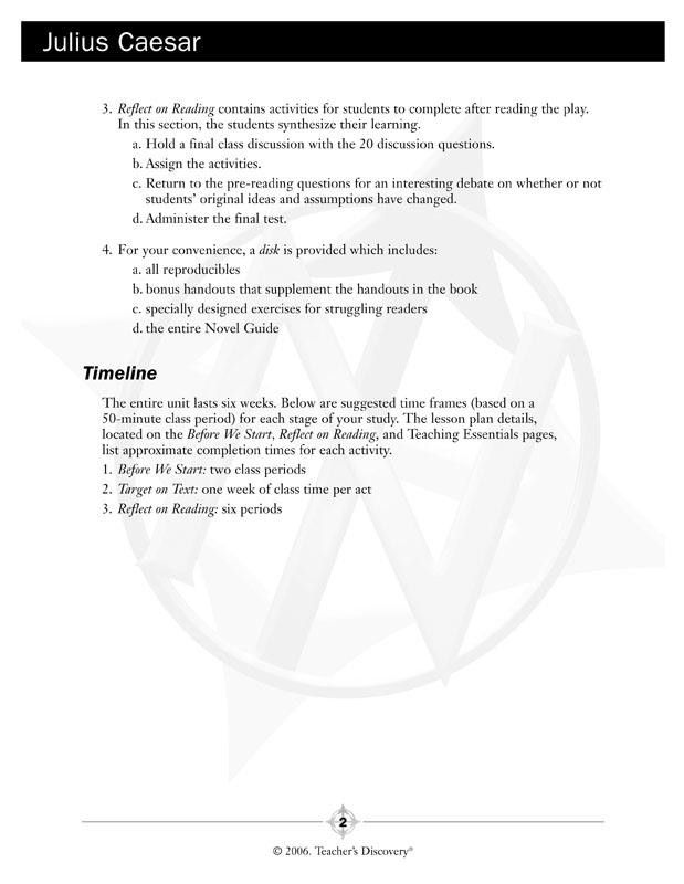 Julius Caesar Pre Reading Worksheet Kidz Activities